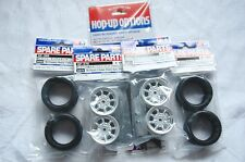 TAMIYA 1/10 RC CAR TIRE(50568)+WHEEL(50676)+Inner SET for M-Chassis (RADIAL)