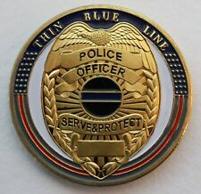 More details for us police officer thin blue line challenge coin.