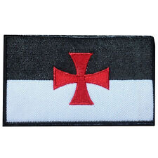 CROSS TEMPLAR CRUSADERS KNIGHTS CHRISTIAN ARMY INSIGNIA HOOK LOOP PATCH