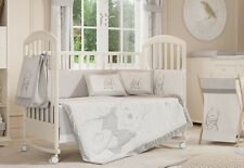 4 Pices Baby Boy Crib Bedding Set Gray Winnie the Pooh Baby Bedding Collection