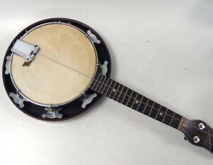 Vintage Banjolele Banjo Ukulele Melody-Uke Spares Or Repairs Strings Broken