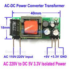 500mA 200mA  110V~220V to 5V 3.3V  Isolated Step Down Buck Power Transformer