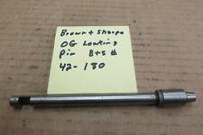 Brown & Sharpe OG turret locking pin 42-180