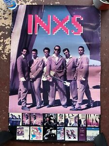 """INXS Double-Sided Promo Poster - 1992 - 24x36"""""""