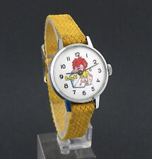 Vintage wind-up German Pumuckl Cartoon Novelty Character Watch w/ Original Band