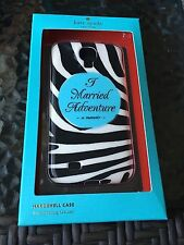 """NEW Kate Spade Samsung Galaxy S4 """"I Married Adventure"""" Hardshell Cell Phone Case"""