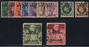 Great Britain - East African Forces (Somalia) Sc #10-20 (1948) B.M.A. KGVI Used