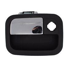 Outside Door Handle - Front Left Driver Exterior - Black w/ Chrome Lever