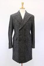NWT TOM FORD Men's Silk-Wool Thick Knit Herringbone DB Overcoat Size 48R/ 38R US