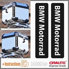 2x BMW Motorrad Black REFLECTIVE ADESIVI PEGATINA R 1200 1150 F650 GS TOP CASE
