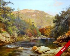 CANADIAN AUTUMN RIVER & MOUNTAIN CANADA LANDSCAPE CANVAS GICLEE 8X10 ART PRINT