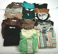 Wholesale Lot of 16 Women's Size Medium Spring Summer Casual Blouse Tops Shirts