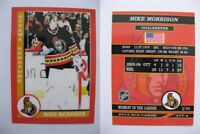 2015 SCA Mike Morrison rare Ottawa Senators goalie never issued produced #d/10