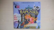 """RARE Disneyland Book and Record THE STORY OF RAPUNZEL 7"""" 33rpm 1970"""