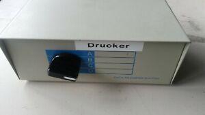 COMPUTER DRUCKER RS232 UMSCHALTER 5x 25 Pol Buchse Kreuzschalter ABCD