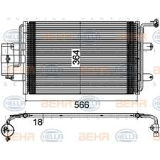 Kondensator Klimaanlage - Hella 8FC 351 036-381