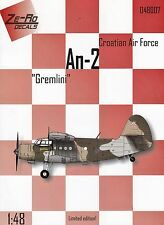 zr48007/ Ze-Ro Decals - Antonow An-2 - Croatian Luftwaffe - Gremlini - 1/48