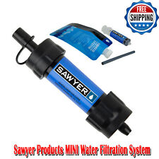 Sawyer Products MINI Water Filtration System, Single Blue Portable Water Filters