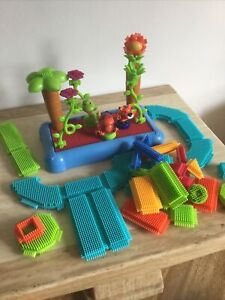 Stickle Bricks Bundle - Building Blocks, Jungle Animals, Palms, Base Flowers