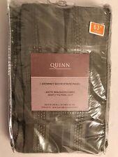 Quinn Grommet Sheer Stripe Panel in Sage