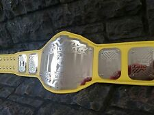 NEW Continental Championship Belt Legend Yellow Adult Metal Plates wwe wwf wcw