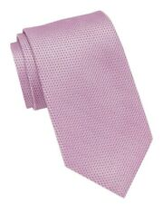NEW $55 KENNETH COLE REACTION PINK TEXTURED 100% SILK NECK TIE