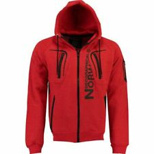 Geographical Norway Men's Gantaga Hoodie Red Size M New with Tags Free P&P UK