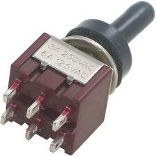 5 Stück Miniaturkippschalter MTS-2.. 2x E-E bzw E-A schaltend Spritzwasserschutz