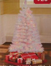 Artificial Pre-Lit Christmas Tree, 4' White Indiana Spruce, Multi Color Lights