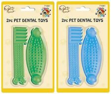 DOG TOY PUPPY DENTAL SOFT RUBBER TEETHING PLAY PET TRAIN DENTAL CHEW HEALTHY GUM