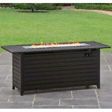 Fire Pit 57'' Outdoor Heater With Cover Adjustable Heat Control Free Shipping