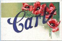 1908 CARL Large Letter Name Embossed Mico Glitter Postcard DJ