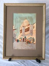 Original Watercolor Painting of Cairo by known English artist Augustus Osborne L
