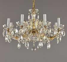 Vintage Marie Therese Italian Chandelier c1950 Antique French Style Glass