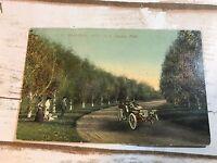 Old Postcard NE Omaha Birch Drive in Miller Park