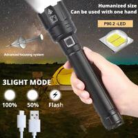 900000LM XHP90.2 Taschenlampe LED Taktisches Arbeitslicht wiederaufladbare IP65