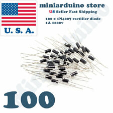 100pcs 1N4007 IN4007 1A 1000V Rectifier Diode DO-41 4007