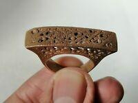Very Stunning Rare Ancient Viking Ring Bronze Artifact Authentic