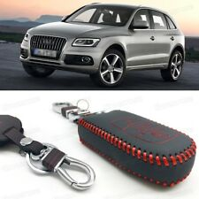 Leather Remote Car Key Cover Case Protector Holder Fob for Audi Q5 SQ5 2013-2016
