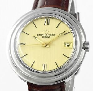 Vintage ETERNA MATIC 2002 Automatic Date Vintage Mens Wrist Watch