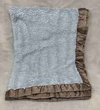 "Koala Baby blue brown baby Blanket  Diamond dash 30"" x40"" wash wear lovey"