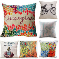 Linen Throw Pillow Case Cushion Cover Home Decoration Bed Sofa Car Pillow Case