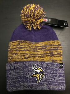 MINNESOTA VIKINGS '47 Brand NFL Pom Knit Beanie Purple Winter Hat