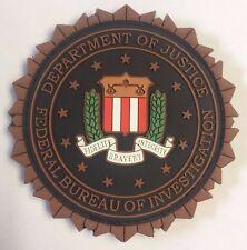 DOJ FBI Federal Bureau of Investigation Fabric Fastened 3D PVC Blue Patch 2.875