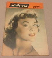 DANIELE DELORME FRONT COVER ARLENE DAHL BACK COVER VINTAGE Danish Magazine 1954