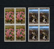 (YYAK 005) Iceland 1970 MNH Flowers Block of 4
