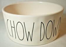 Magenta Artisan: Rae Dunn: CHOW DOWN 6-in. Stoneware Dog Bowl: EXC: NR