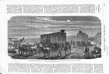 Guerre 1870 Ravitaillement de Paris Convoi de la Gare d'Ivry 1871 ILLUSTRATION