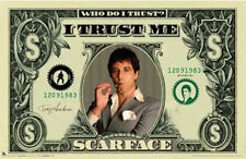 (LAMINATED) SCARFACE AMERICAN DOLLAR BILL $$ POSTER (61x91cm)  PICTURE PRINT NEW