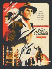 """Indiana Jones art poster print """"Crusade"""" by Danny Haas"""